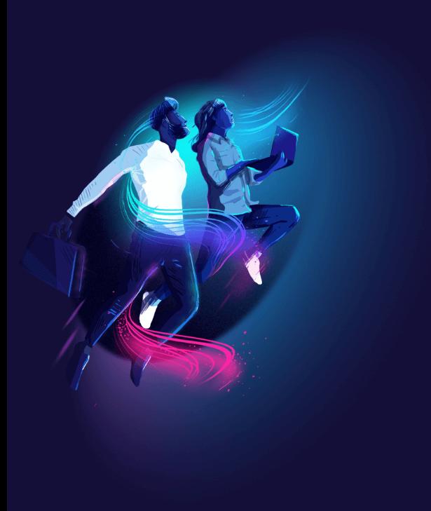 Illustration Blue Karavan